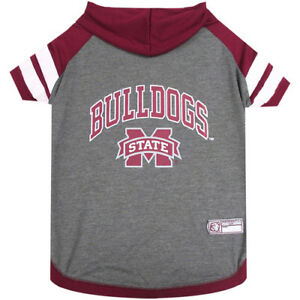 Mississippi St. NCAA Pets First Officially Licensed Dog Pet Hoodie T Shirt XS-L