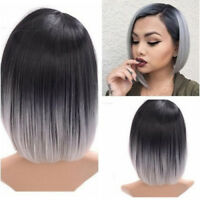 EG_ HK- Women Fashion Bobo Straight Gradient Color Short Wig Fancy Party Hair Li