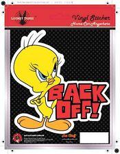 Tweety Back-off! Car Sticker - Looney Tunes- Fun - Auto Decal