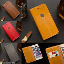 Apple iPhone Quality Leather Flip Cover Case Wallet for 4 4s 5 5s 6 6s 6 Plus 7