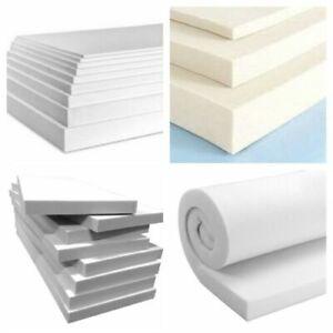 Blue in white Upholstery Foam Sheet Cut To Any Size (Density Hard / Medium Soft)