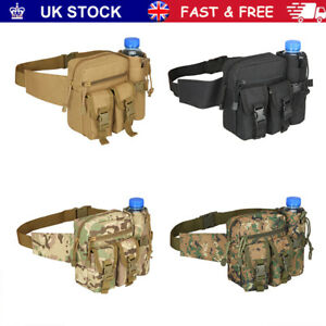 Molle Pouch Fanny Pack Bumbag Tactical Water Bottle Wait Pack Bag Military Belt~
