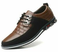 Leather Men's Casual Shoes Breathable Lace-up Oxfords Dress Business Formal Shoe
