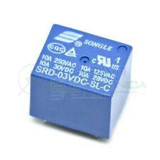 Relè SRD-03VDC-SL-C con Bobina 3V contatto Spdt 10A singolo Scambio Circuito Sta
