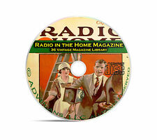 Radio In The Home, 36 Classic Old Time Radio OTR Magazine Series on PDF CD B93