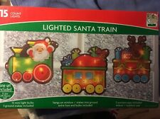 Santa's Christmas Express Train Yard Decor Window Decor 15 Mini Lights