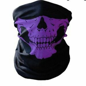 Skull Half Face Balaclava Unisex Halloween Scarf Ride Bandana Headscarf Ski Mask