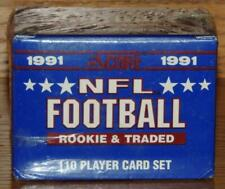 7 Boxes of 1991 SCORE NFL Football Rookie & Traded 110 Card Set Factory