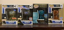 Funko Pop! - DC Comics - #144 Batman Chrome Set (Teal, Orange, Black & Gold)