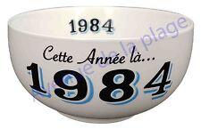 Bol année de naissance 1984 en grès - idée cadeau anniversaire neuf