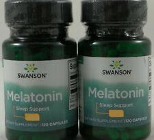 Swanson Melaton 3mg - 120/240/360/480 Kapseln Besserer Schlaf