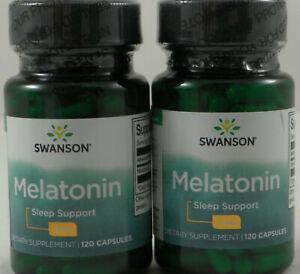 Swanson MELATON 3mg - 120/240/360/480 Kapseln Besserer Schlaf JET LAG Aid