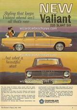 1966 CHRYSLER VALIANT VC REGAL A3 POSTER AD SALES BROCHURE ADVERTISEMENT ADVERT