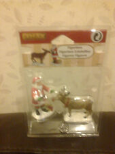 LEMAX REINDEER TREATS APPROX 8CM TALL 62226 NEW BOXED SANTA SET OF 2