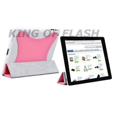 Magnetic Smart Cover With Hard Case & Stand For iPad 2 Pink Protection Case