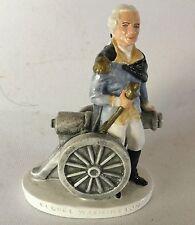 Sebastian Miniature George Washington w/ Cannon Pw Baston Vintage 1947