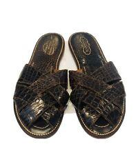 Florsheim Shoe Shops Brown Alligator Men's Slippers Shoes