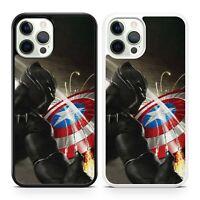 Black Panther Captain America Superhero Avengers Marvel Comics Phone Case Cover