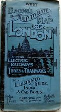 Bacon's Up To Date Map (and guide) of LONDON (West) 1908