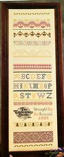 The Embroidery Studio Sampler I Band Sampler PAT ROZENDAL Cross Stitch Kit