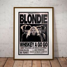More details for blondie 1977 early concert three print options or framed poster new exclusive