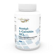 Vita World acetil-L-Carnitina HCl 1000mg per capsula 120 capsule biodisponibilità