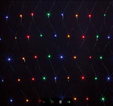 300 LED SIZE 3M x 3M MULTI COLOUR SOLAR NET CHRISTMAS LIGHTS