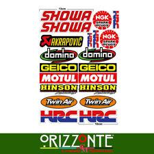 Adesivi moto Honda, HRC Kit 20 pz  sponsor tecnici bike stickers intagliati