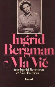 Livre Ingrid Bergman ma vie Fayard 1980  book