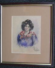 """Vendo bel acquerello """"Ritratto di donna"""" di UMBERTO ZINI (1878 - 1964)"""
