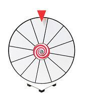 "16"" White Face Dry Erase Spinning Prize Wheel Kid Safe Pegless Design"