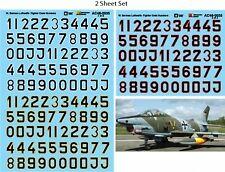 Microscale Décalques 1/48 German Luftwaffe Fighter code Numbers-Black Filled Lett
