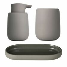 Set of 3 Blomus Sono Satellite Bathroom Set - Brown