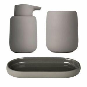 Set of 3 Blomus Sono Satellite Bathroom Set - Brown