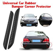 2pc Black Car Rubber Bumper Corner Protector Anticollision Guard Lip Crash Cover