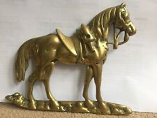 Crowley & Co Manchester Brass Horse Antique Vintage Collectable Gold Colour