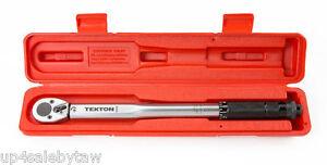 TEKTON 24330 3/8-Inch Drive Click Torque Wrench, 10-80 Feet Pound