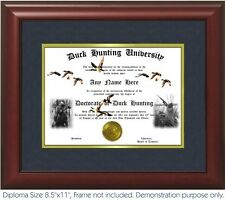 Duck Hunting Diploma Personalized With Your NameDate Duck Calls Waterfowl decoys