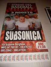 SUBSONICA - LOCANDINA POSTER TOUR  32 x 68