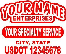 Semi Truck Lettering or Utility Trailer LETTERING-(1 sign) 22.5 X 18 inches