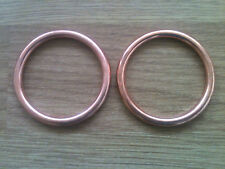COPPER EXHAUST GASKET SET YAMAHA XVS 650 DRAGSTAR Set of 2 Gaskets
