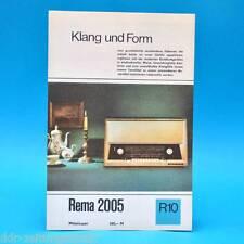 Rema 2005 Mittelsuper DDR 1968 | Prospekt Werbung DEWAG Werbeblatt R10