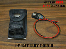 Tone Monster 9V Battery Pouch w/ Battery Clip Acoustic Guitar Bass Ukulele