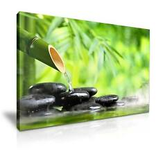 Spa Zen Stone Bamboo Canvas Wall Art Picture Print 76x50cm Special Offer