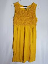 U4 Women's Design History Mustard Sleeveless Comfy Pullover Dress Size M