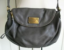 Marc by Marc Jacobs Nathasha Leather Flap Cross Body Bag - Grey - Large