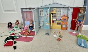 Barbie Doll 2005 TOTALLY REAL HOUSE Folding House, Sound,Kelly,Ken 75+ pieces