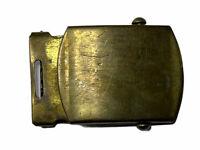 Vintage Collectible Belt Buckle Solid Brass USA Military Web Belt Slider Type