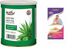 Bee One Aloe Laiteux Crémeux Enlever Cheveux Cire + 80 Bandes Aide Retardateur