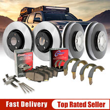 Front Brake Rotors &Ceramic Pads + Rear Brake Drums Shoes For 1998 Toyota Tacoma